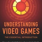 "The Cover of Understanding Video Games, featuring an abstract, circular, ""powering on"" image."